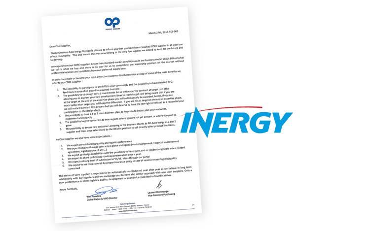 TRIA è core supplier di Inergy