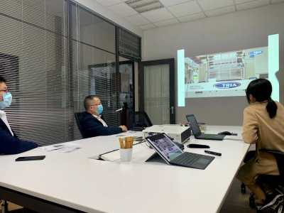 Full operational: customer visits to the Shanghai office of TRIA China